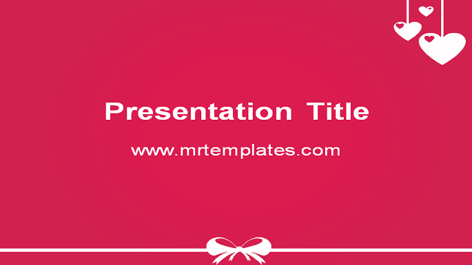Pink Love PowerPoint Template