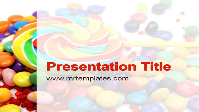 Lollipop and Candy PowerPoint Template