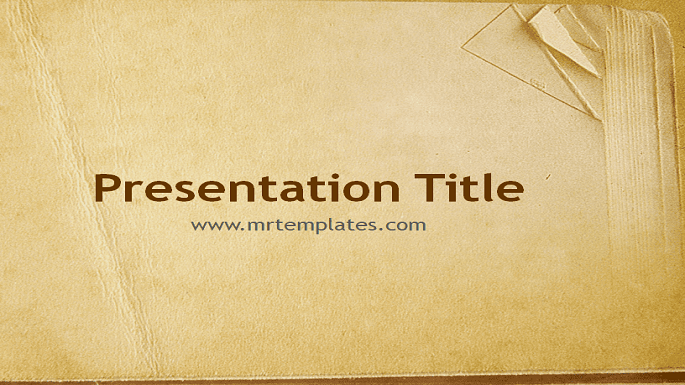 Old Book Paper PowerPoint Template