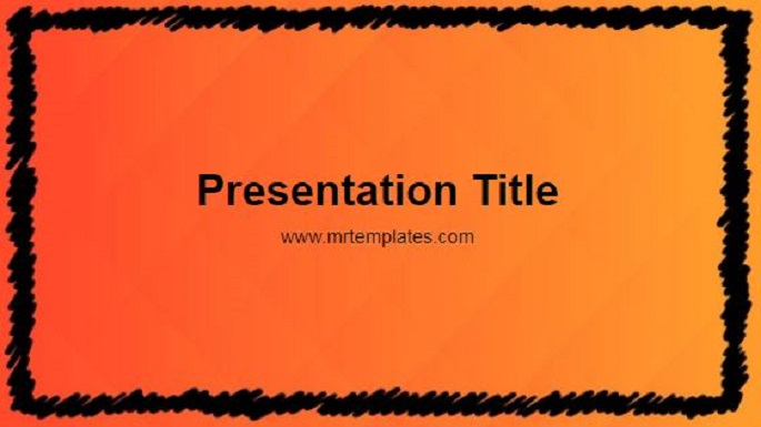 Orange and Black Powerpoint Template