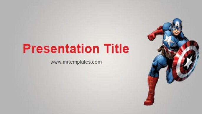 Captain America Powerpoint Template