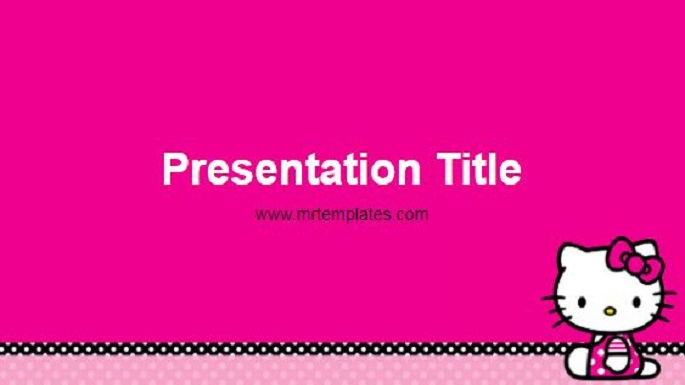 Hello Kitty Powerpoint Template