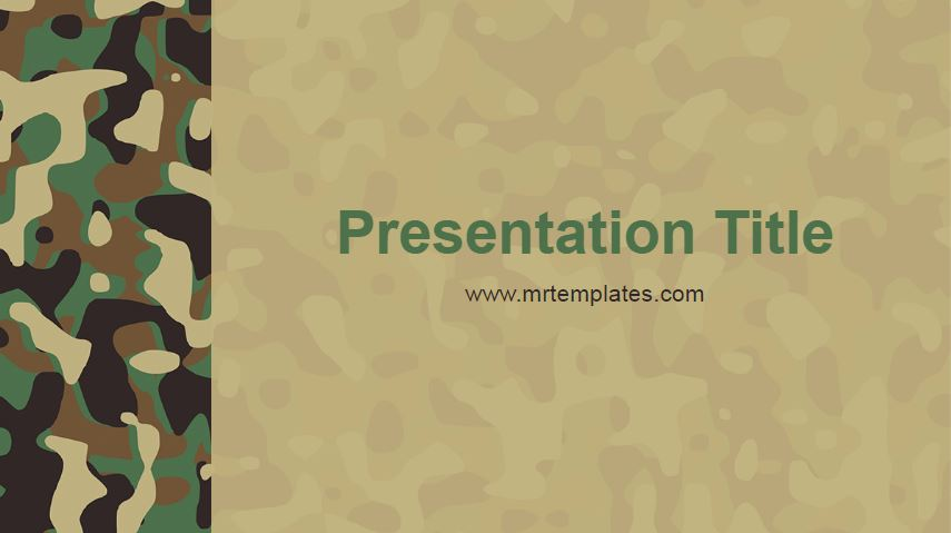 Camouflage Powerpoint Template