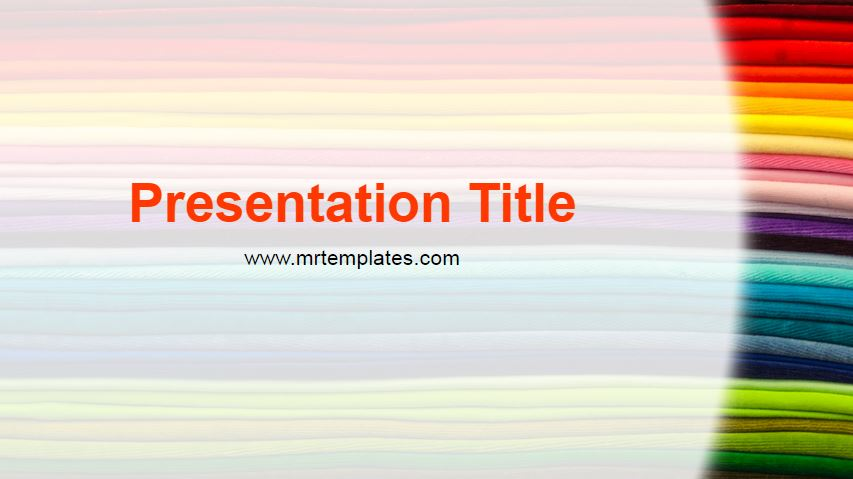 Colorful Fabrics Powerpoint Template