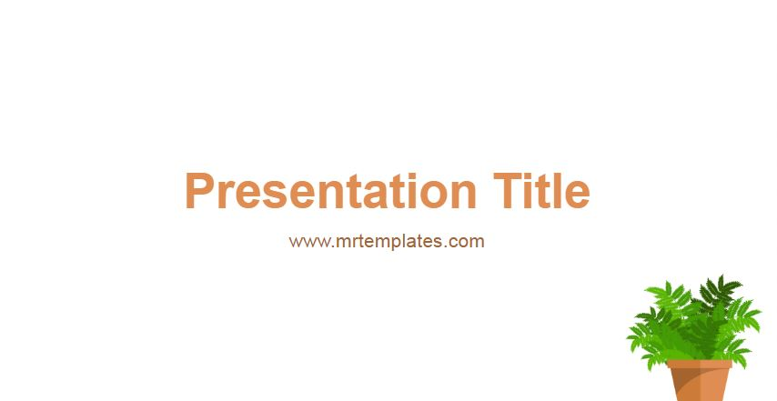 Plant Powerpoint Template