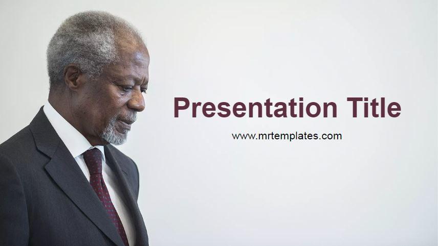 Kofi Annan Powerpoint Template