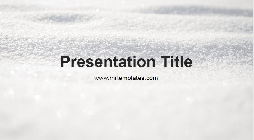 Snow Powerpoint Template