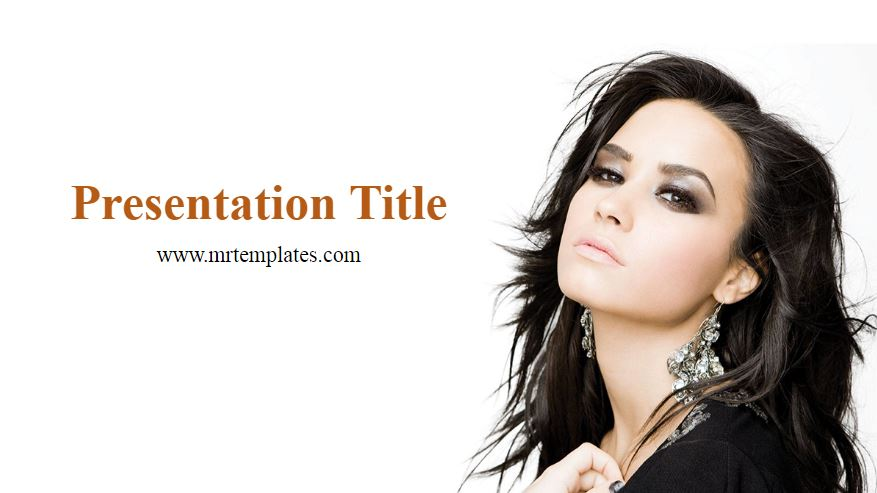 Demi Lovato Powerpoint Template