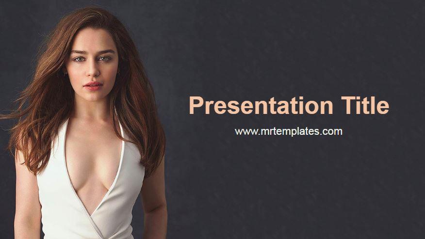 Emilia Clarke Powerpoint Template