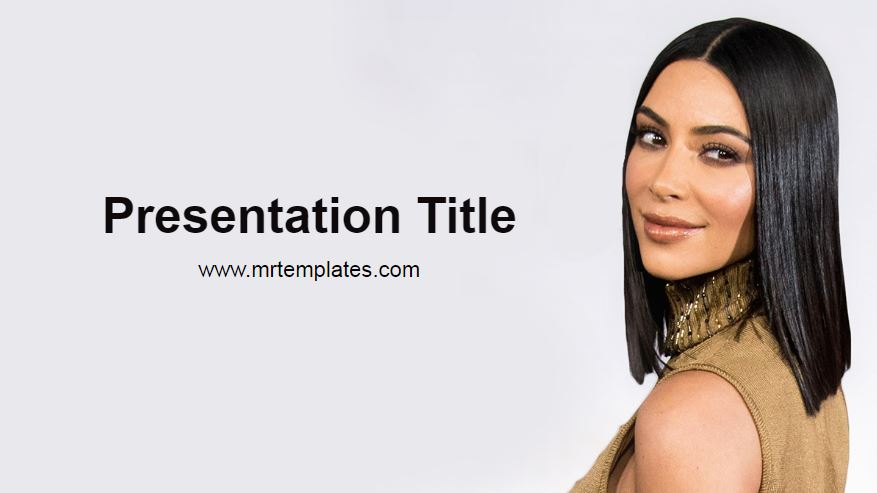 Kim Kardashian Powerpoint Template