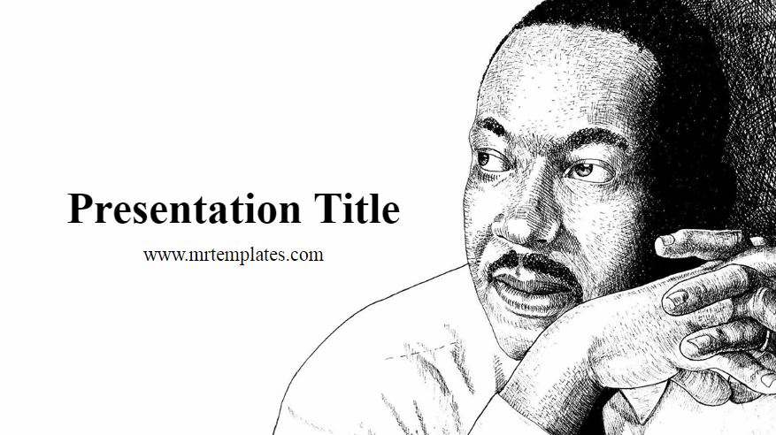 Martin Luther King Jr. Powerpoint Template