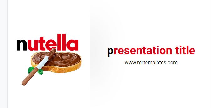 Nutella Powerpoint Template
