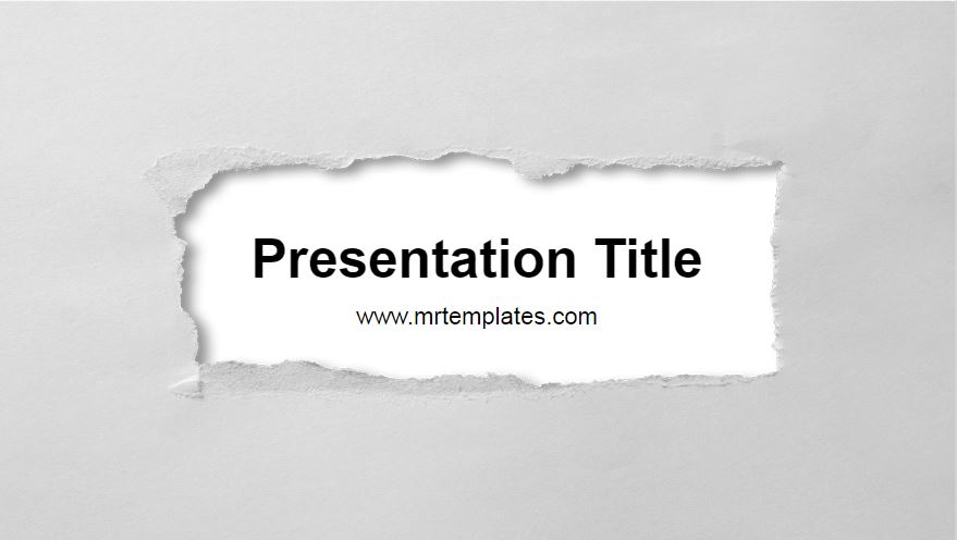 Paper Powerpoint Template