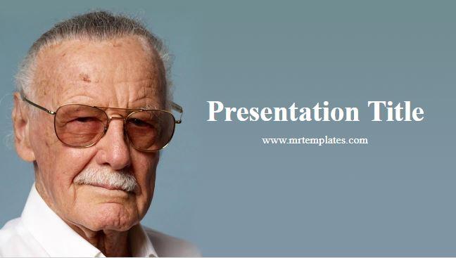 Stan Lee PowerPoint Template
