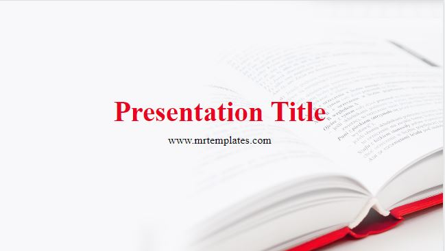 Red Book Powerpoint Template