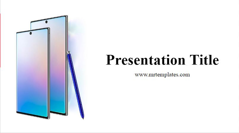 Samsung Galaxy Note10 PowerPoint Template