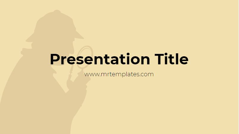 Detective Powerpoint Template