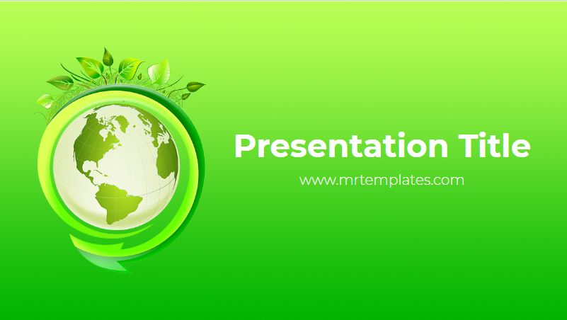 Green World Powerpoint Template