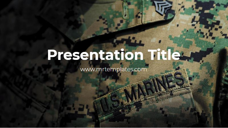 US Marines Powerpoint Template